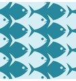 Fish seamless pattern Esher style vector image vector image