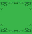 frame green 6 2309 vector image