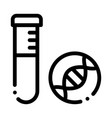 glass vial with liquid biomaterial icon vector image