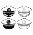 Graphic captain cap vector image vector image