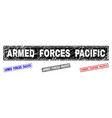grunge armed forces pacific textured rectangle vector image vector image
