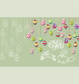 happy easter template with color ribbon and eggs vector image vector image