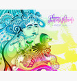 happy janmashtami celebration colorful design vector image vector image