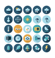 icons flat line ui weather vector image vector image