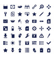 interface icons vector image vector image