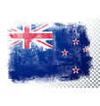 isolated new zealand flag grunge texture style vector image vector image