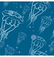 jellyfishes pattern vector image vector image
