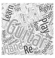 learn to play guitar for left handers Word Cloud vector image vector image