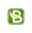 letter b leaf vector image vector image