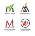 letter m logo set vector image vector image