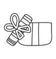 line open present gift box style vector image vector image