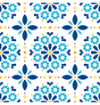 lisbon azulejos tiles seamless pattern vector image vector image