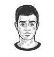 man face sketch vector image vector image