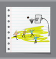 man playing basketball vector image