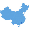 Map of Peoples Republic of China - Macau vector image
