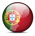 Map on flag button of Portuguese Republic Portugal vector image vector image