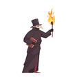 medieval plague doctor vector image vector image