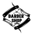 monochrome pattern for barbershop with vector image vector image