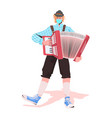 musician playing accordion on folk festival vector image