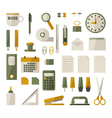 office stationery set vector image vector image