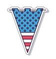 Patriotic party isolated icon design vector image