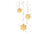 pattern gold decorative garland of snowflakes on vector image vector image