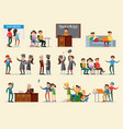 people in university collection vector image vector image