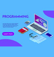 programming concept web engineer at work vector image vector image