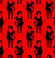 Prostitutes seamless pattern Whore texture vector image vector image