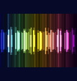 rainbow wave overlap in dark background vector image vector image