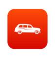 retro car icon digital red vector image vector image