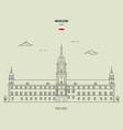 royal castle in warsaw vector image vector image