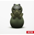 Russian matrioshka in military suit and gas mask vector image vector image
