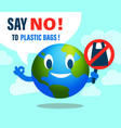 say no to plastic bag environmental issues vector image