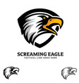 screaming eagle insignia vector image vector image