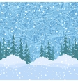 Seamless Christmas Trees and Snow vector image vector image
