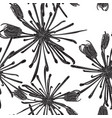 seamless flower pattern for fabric design vector image