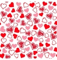 Seamless hearts pattern vector image