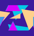 seamless pattern with triangles on a purple vector image vector image