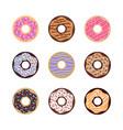set donuts image vector image
