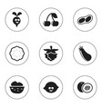set of 9 editable kitchenware icons includes vector image vector image