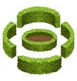 set of garden bushes for topiary garden scene vector image vector image