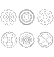 Set of gears icons vector image vector image