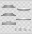 set pedestal podium and platform vector image vector image
