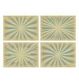 set retro grunge sunburst background vector image