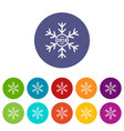 snowflake icons set color vector image vector image