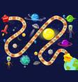 space board game rockets ufo vector image