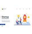 startup success development landing page vector image