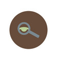 stylish icon in color circle eyesight check vector image vector image