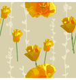 sunny flowers pattern vector image